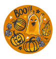 ink hand drawn halloween background vector image