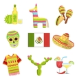 Mexican National Symbols Set vector image