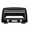 microwave oven icon simple style vector image