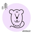 mouse thin line icon vector image