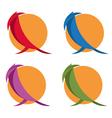 simple flat design of birds vector image