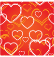 Seamless background with decorative hearts vector image