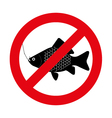 no fishing vector image vector image