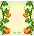 frame of pumpkins vector image