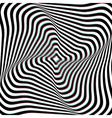 Anaglyph Opt Art vector image