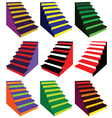 steps in various color combinations vector image