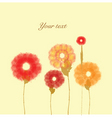 painted flowers on vanilla background vector image