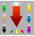 vector arrow set as tags stickers in color vector image