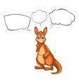 A kangaroo from Australia thinking vector image