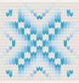 blue jacquard fairisle seamless knitting pattern vector image