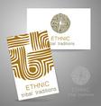 ethnic traditions logo vector image