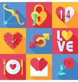 Flat Love Icons vector image