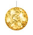 gold disco ball dance club retro party vector image