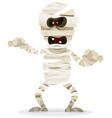halloween mummy character vector image