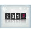 Happy New Year blue background with snowflakesand vector image
