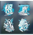 print set for sweatshirt vector image