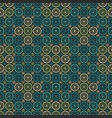 seamless circle flower pattern vector image