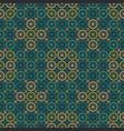 Seamless circle flower pattern vector image