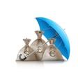 Umbrella protecting sacks vector image