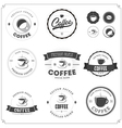 Set of coffee themed monochrome labels vector image vector image