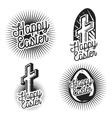 Vintage easter emblems vector image