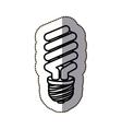 black silhouette contour sticker with bulblight vector image