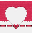 heart background with ribbon pink2 vector image vector image