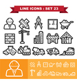 Line icons set 23 vector image