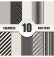 Set line seamless patterns background vector image