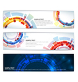 technical banners vector image vector image