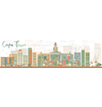 Abstract Cape Town skyline with color buildings vector image