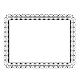 ornamental frame with hearts vector image