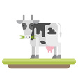 Farm animal Cow flat style vector image