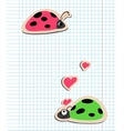 ladybugs in love vector image