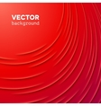 Abstract background with red layers vector image