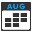 August Flat Icon vector image