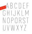 handmade retro inline outline font white letters vector image