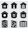 icons houses vector image