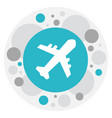 of journey symbol on aviation vector image