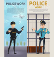 police work vertical banners vector image