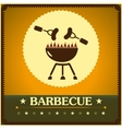 retro barbecue grill poster design menu background vector image