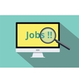search and find online jobs vector image