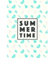 Set trendy linear style summer time poster icons vector image