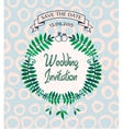 wedding invitation card design template vector image