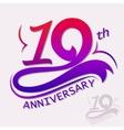 Anniversary Design Template celebration sign vector image