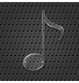 Glass Music Note Sign vector image vector image