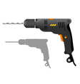 Power drill vector image