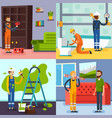 renovation concept 4 flat icons vector image