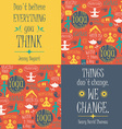 Yoga background with yogic quotes vector image
