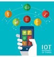 IOT - Internet of things concept vector image vector image
